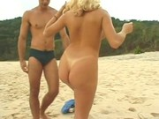 Cute Teen Blonde Fuck In Beach