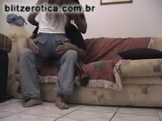 SpyCam – Ebony Fucking On Couch