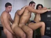 Girl And Three Bisex Guys 26